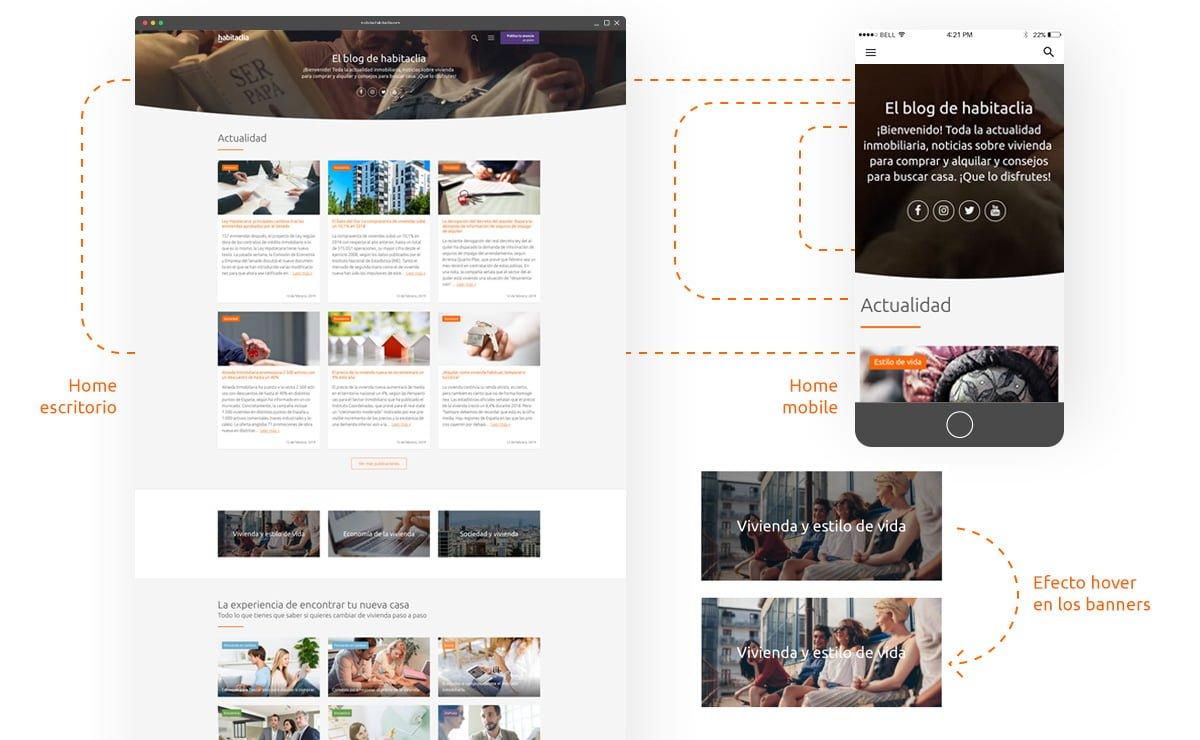 habitaclia Blog - Responsive Web Design