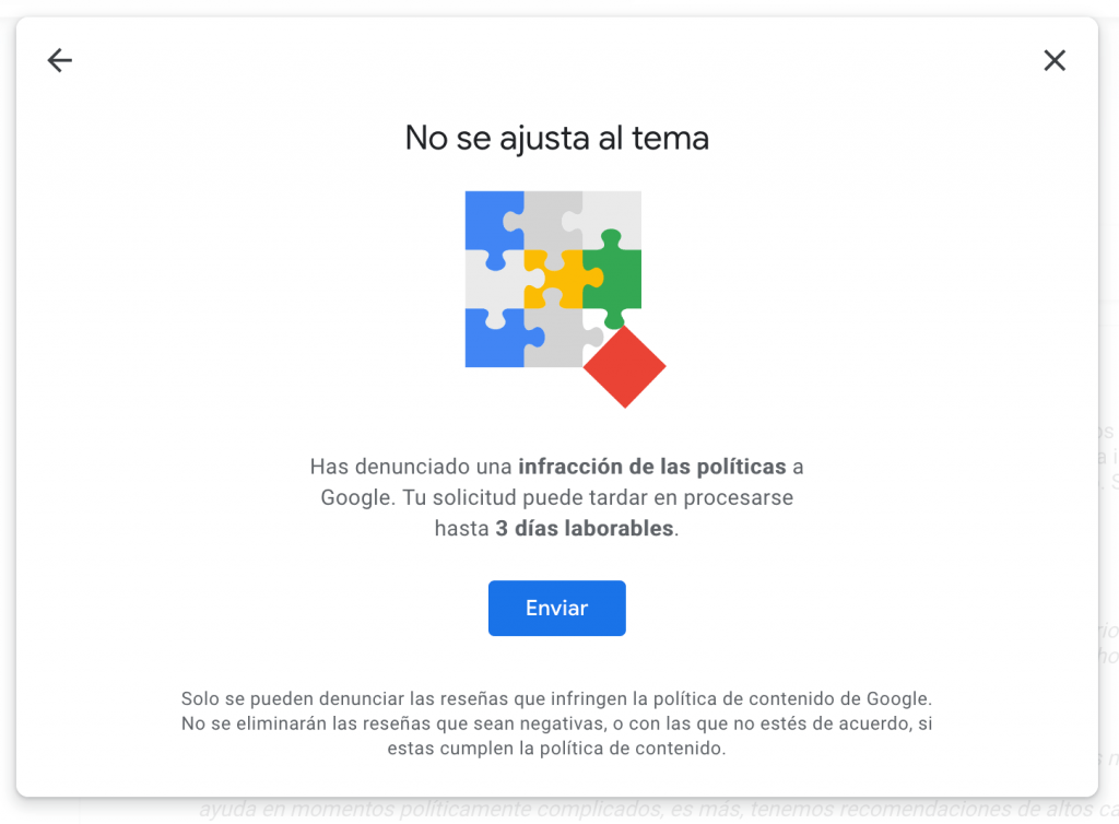 Retirar Reseñas Negativas de Google